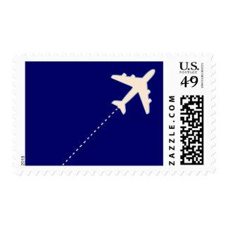 viaje en todo el mundo timbre postal