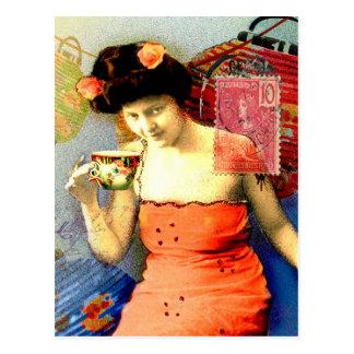 Viaje encendido tarjetas postales