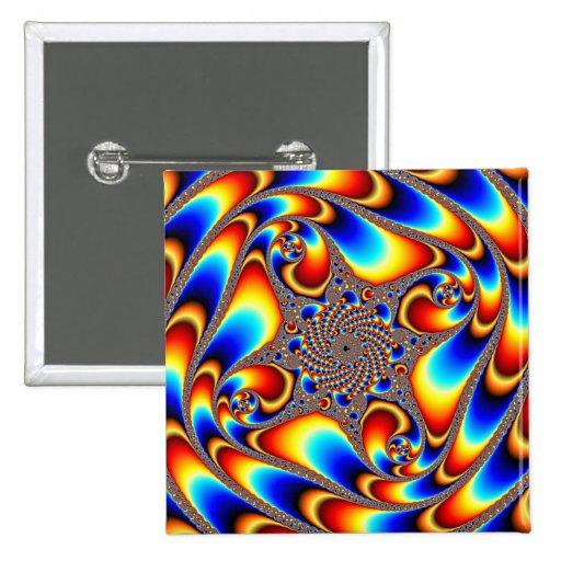Viaje espacial - fractal pin cuadrado