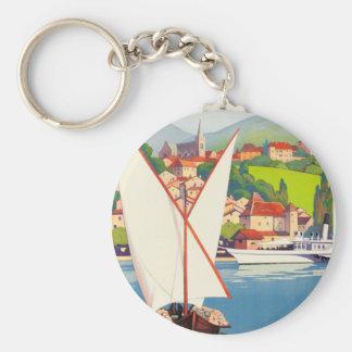 Viaje Europa del francés de Thonon Les Bains Llavero Redondo Tipo Pin