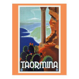 Viaje Europa del vintage de Taormina Italia Tarjetas Postales