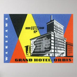 Viaje Europa, Varsovia, Polonia del vintage Posters