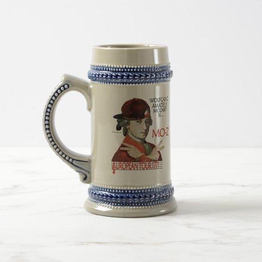 "Viaje europeo Stein de Mozart ""MES-z"" Tazas De Café"