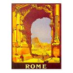 Viaje ferroviario expreso de Italia del vintage de Tarjetas Postales
