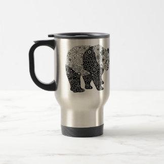 Viaje floral artsy ilustrado de la panda/taza del taza de viaje