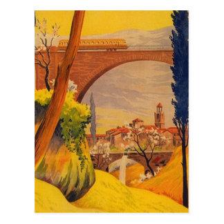 Viaje francés del ferrocarril del vintage tarjetas postales