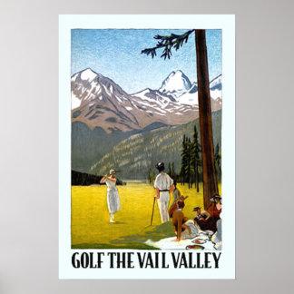 Viaje Golfing del valle de Vail del vintage Posters