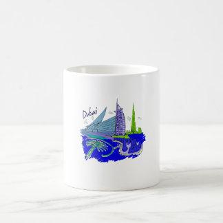 viaje gráfico azul design.png de la ciudad de Duba Taza