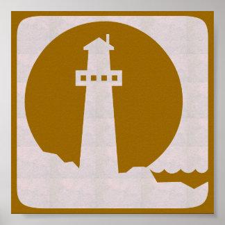 Viaje gráfico de la vela de la playa del mar de la póster