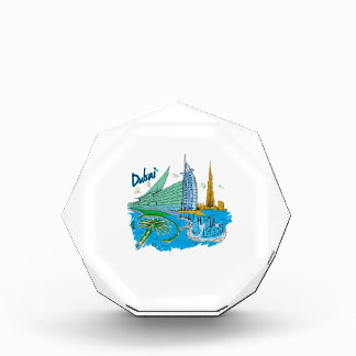 viaje gráfico design.png de la ciudad de Dubai