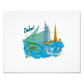 viaje gráfico design.png de la ciudad de Dubai Cojinete