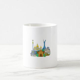 viaje gráfico design.png de la ciudad de Kiev Taza