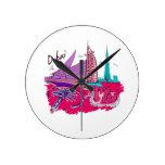 viaje gráfico design.png del rosa de la ciudad de  reloj
