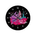 viaje gráfico design.png del rosa de la ciudad de  relojes