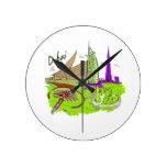 viaje gráfico design.png del verde de la ciudad de reloj