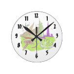 viaje gráfico design.png del verde de la ciudad de relojes