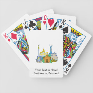 viaje gráfico design.png del watercolour de la ciu cartas de juego