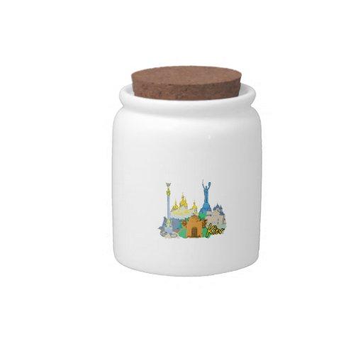 viaje gráfico design.png del watercolour de la ciu jarras para caramelos