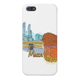 viaje gráfico image.png de la ciudad de La Meca iPhone 5 Cárcasas