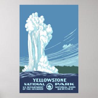 Viaje grande de Yellowstone WPA del vintage Posters