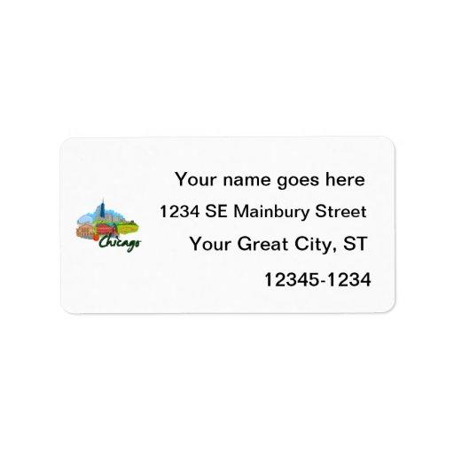 viaje graphic.png de la ciudad 3 de Chicago Etiquetas De Dirección