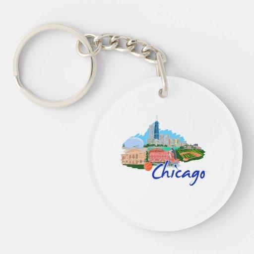 viaje graphic.png de la ciudad 5 de Chicago Llavero