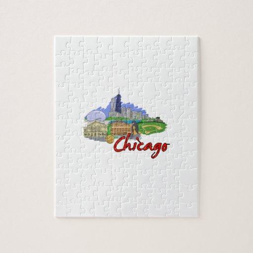 viaje graphic.png de la ciudad de Chicago Rompecabezas