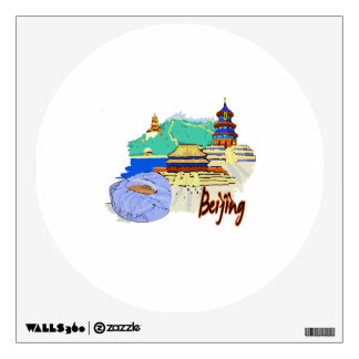 viaje graphic.png del watercolour de la ciudad de  vinilo adhesivo