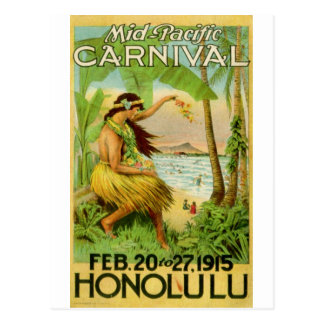 Viaje hawaiano del vintage postales