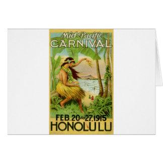 Viaje hawaiano del vintage felicitacion