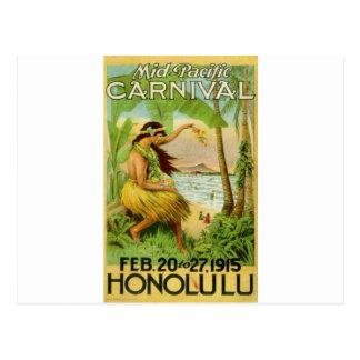 Viaje hawaiano del vintage tarjeta postal