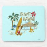 Viaje Hawaii de Mickey Mouse Alfombrillas De Ratón