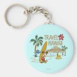 Viaje Hawaii de Mickey Mouse Llaveros Personalizados
