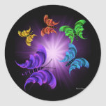 Viaje hermoso de la mariposa pegatina redonda