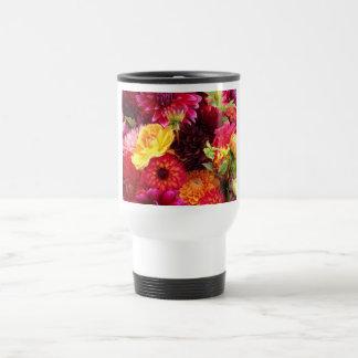 Viaje hermoso de las flores del Zinnia/taza del vi Taza De Viaje De Acero Inoxidable