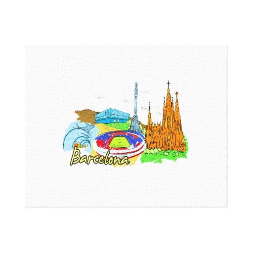 viaje image.png de la ciudad de Barcelona Impresiones En Lona Estiradas