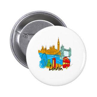viaje image.png de la ciudad de Londres Pin Redondo 5 Cm