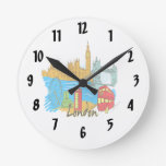 viaje image.png de la ciudad de Londres Relojes De Pared