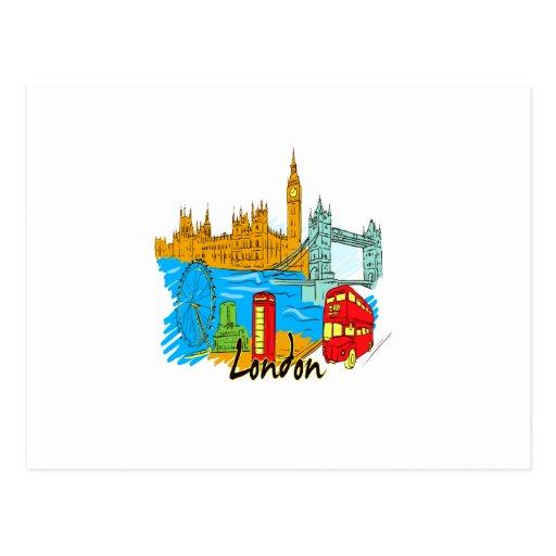 viaje image.png de la ciudad de Londres Tarjetas Postales