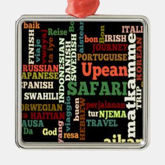 Viaje irlandés italiano de Hapanese del safari del Adorno Cuadrado Plateado