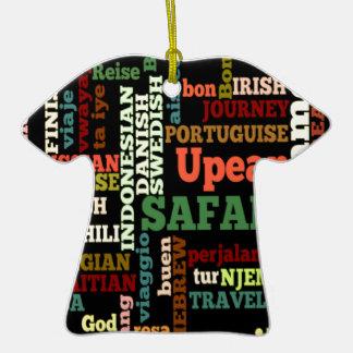 Viaje irlandés italiano de Hapanese del safari del Adorno De Cerámica En Forma De Camiseta