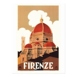 Viaje Italia, Florencia del vintage - Postal