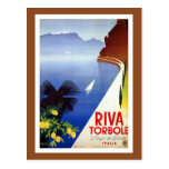 Viaje italiano de Garda del lago Torbole Riva del  Postal