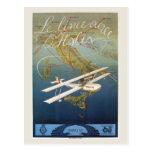 Viaje italiano de la lanzadera del avión de la isl tarjeta postal