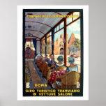 Viaje italiano de los años 20 de Roma del vintage Impresiones