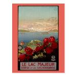 Viaje italiano de Maggiore del lago romántico Tarjetas Postales