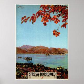 Viaje italiano de Maggiore Stresa del lago de los  Póster