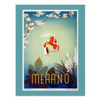 Viaje italiano de Merano Meran del vintage Postales