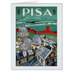Viaje italiano de Pisa de los años 20 del vintage Tarjeta De Felicitación Grande