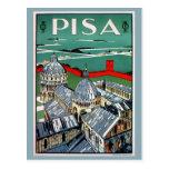 Viaje italiano de Pisa de los años 20 del vintage Postal